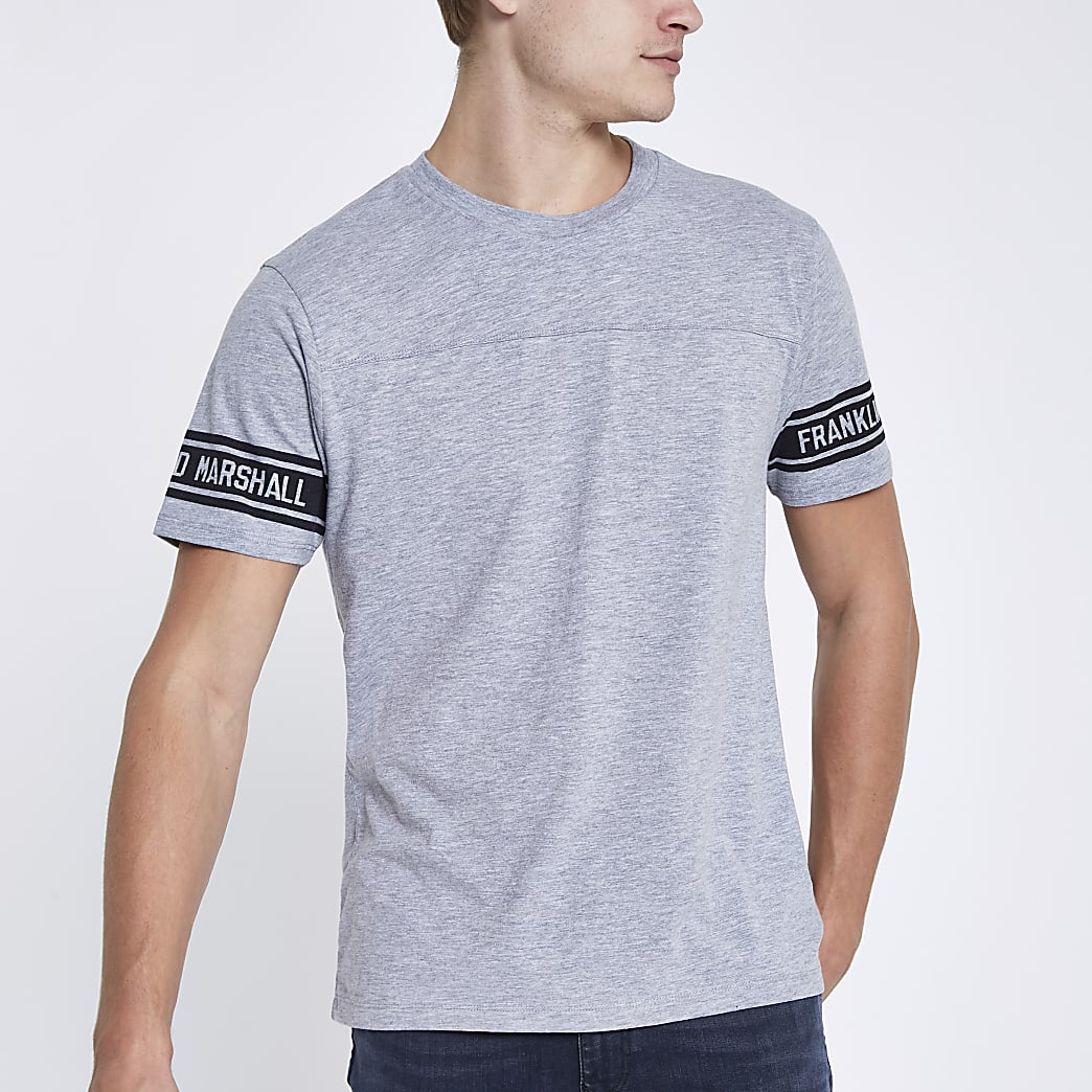 Franklin & Marshall grey crew neck T-shirt