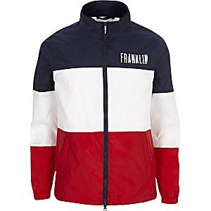Franklin & Marshall navy color block jacket