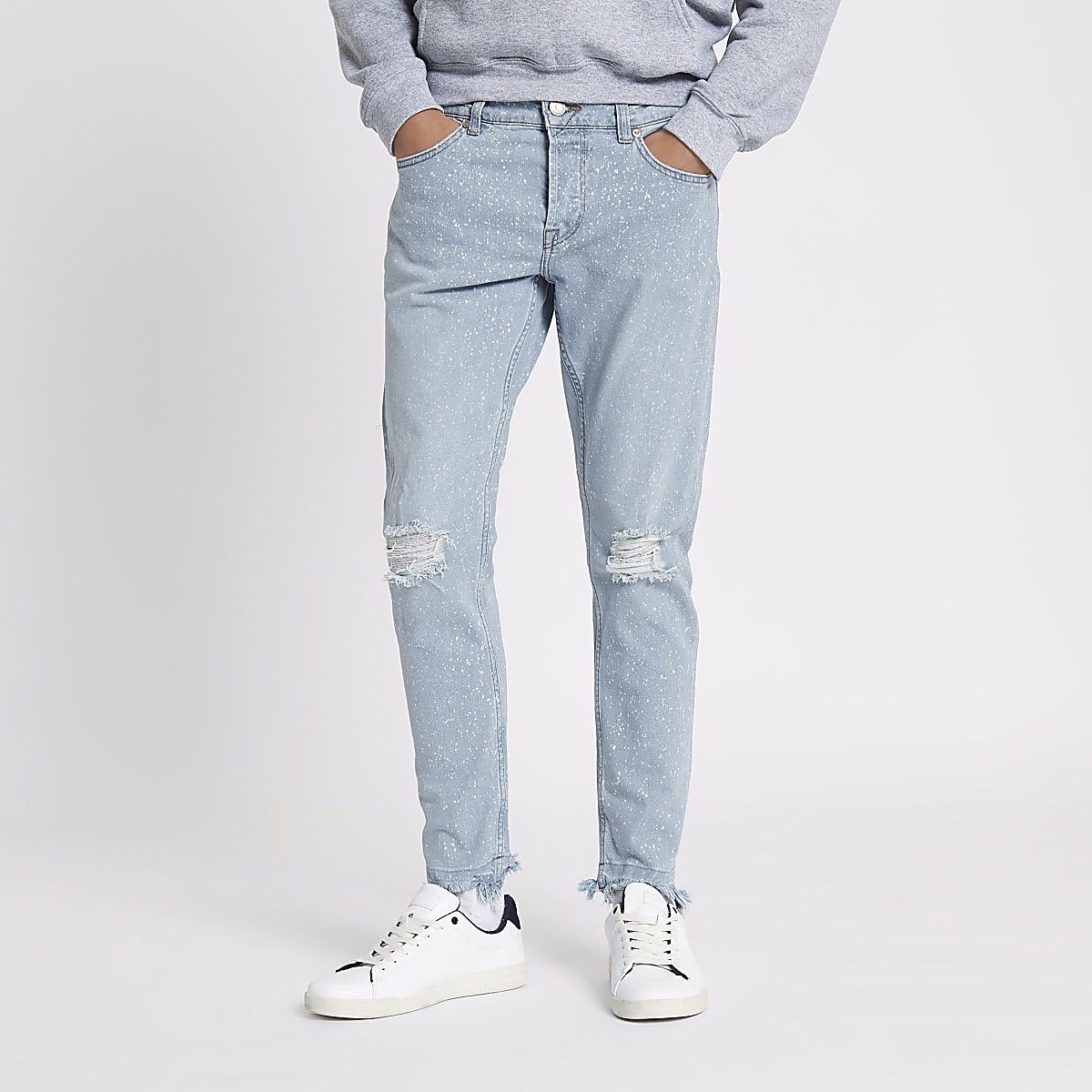 Only & Sons light blue bleach slim fit jeans