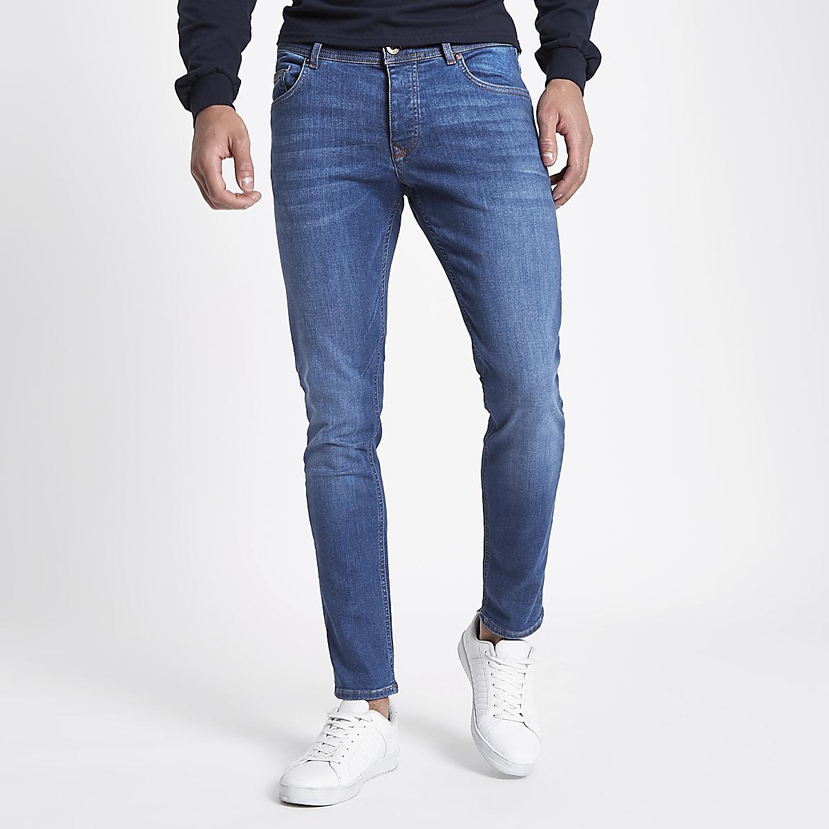 Mid blue Eddy skinny fit jeans
