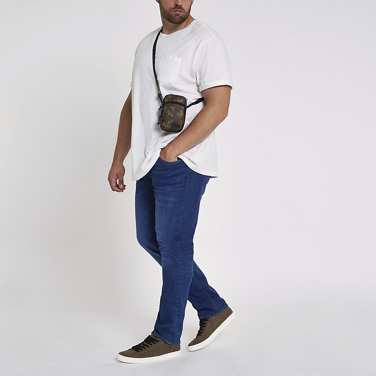 Big and Tall - Seth - Blauwe slim-fit jeans