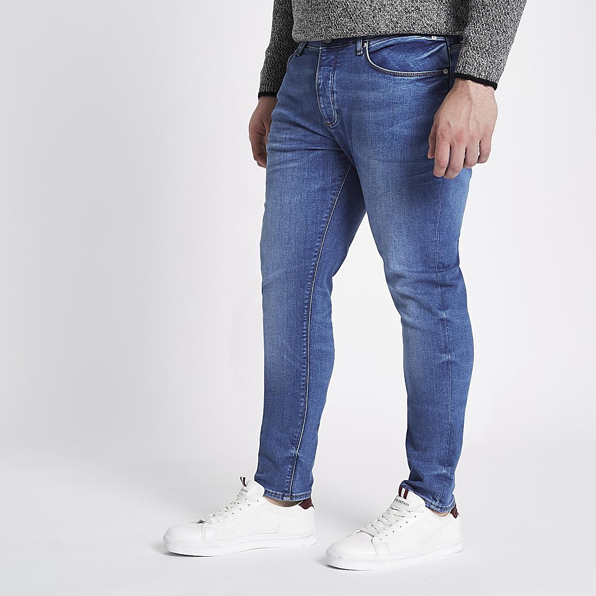 Big & Tall – Sid – Jean skinny bleu