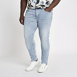 Big and Tall – Hellblaue Skinny Jeans