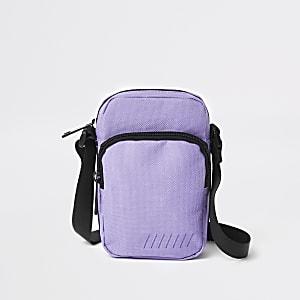 Mini housse de vol à bandoulière violette