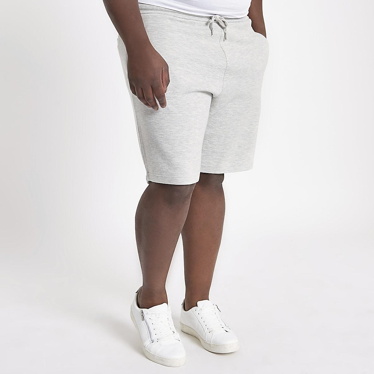 Big and Tall – Hellgraue Piqué-Shorts