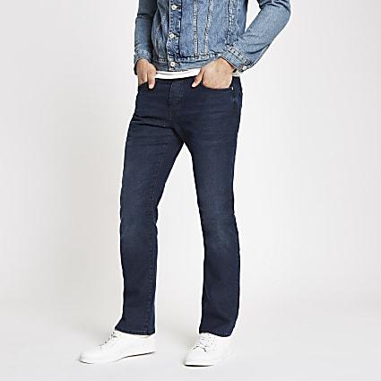 Dark blue Clint bootcut stretch jeans