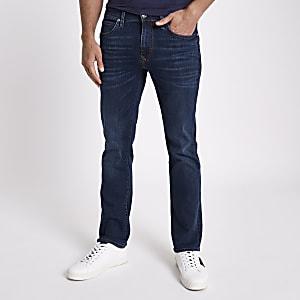 Jean bootcut bleu foncé