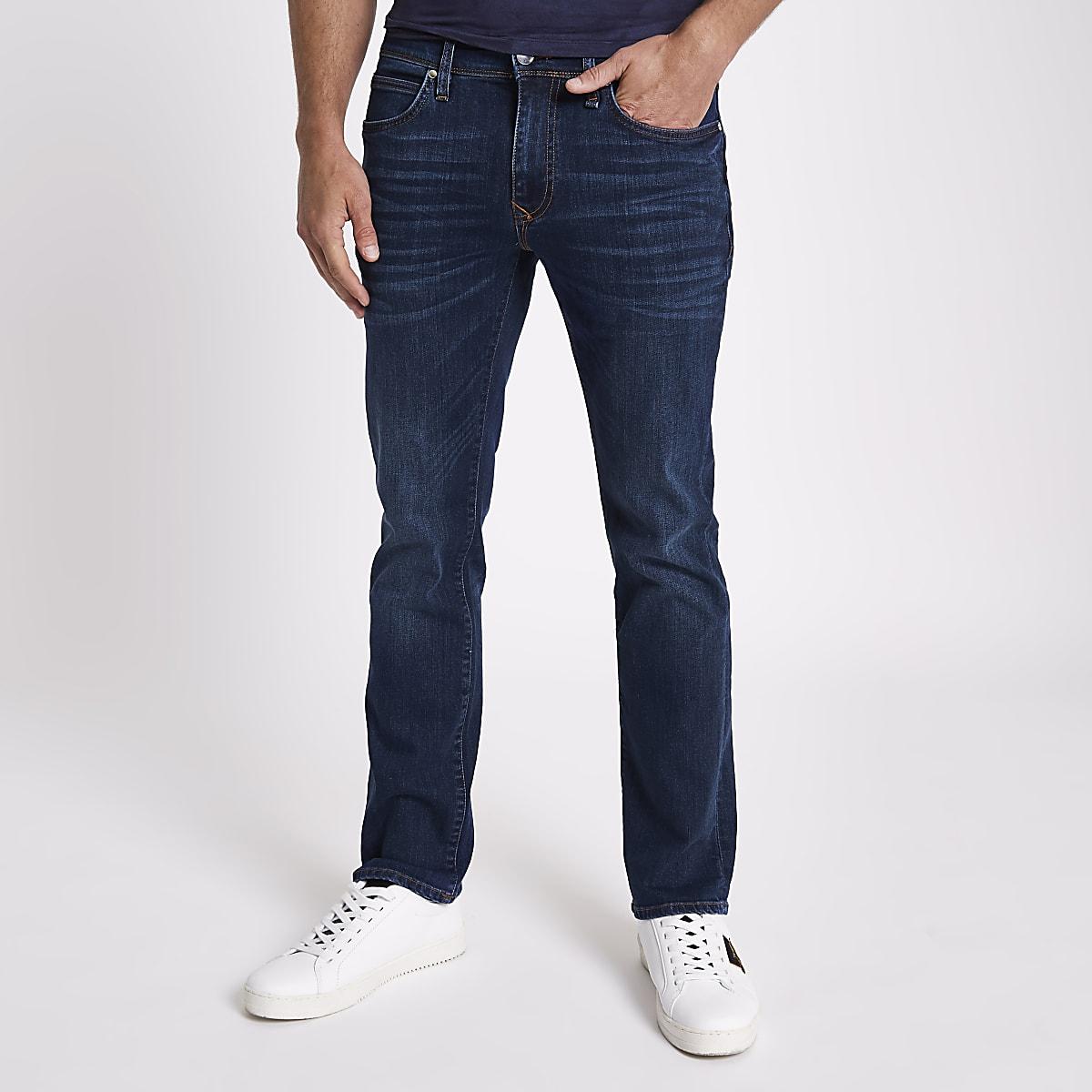 Dark blue bootcut jeans