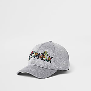 Grey 'MCMLX' embroidered scuba baseball cap
