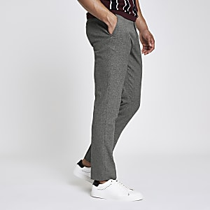 Grey skinny smart trousers