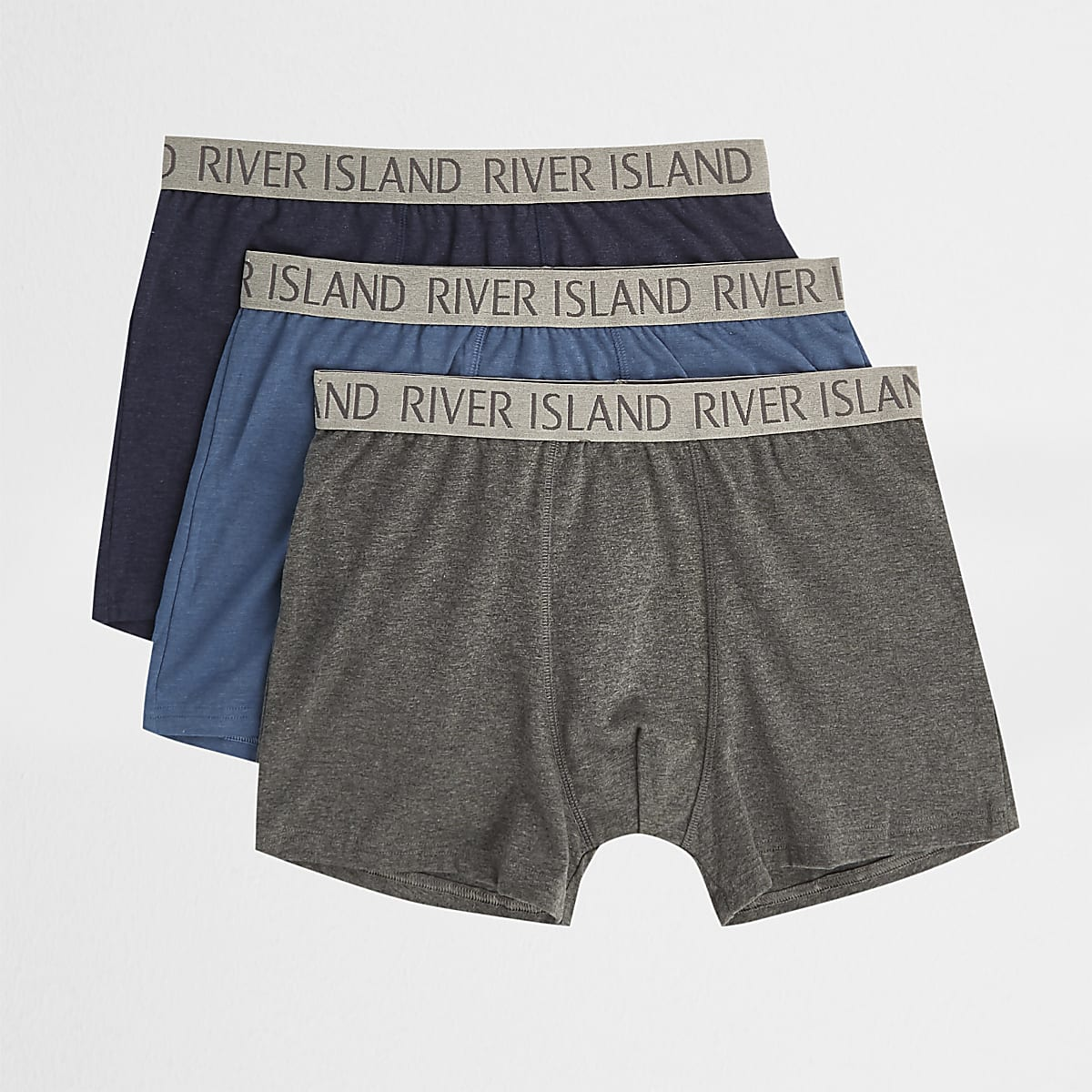Blue RI print trunks multipack