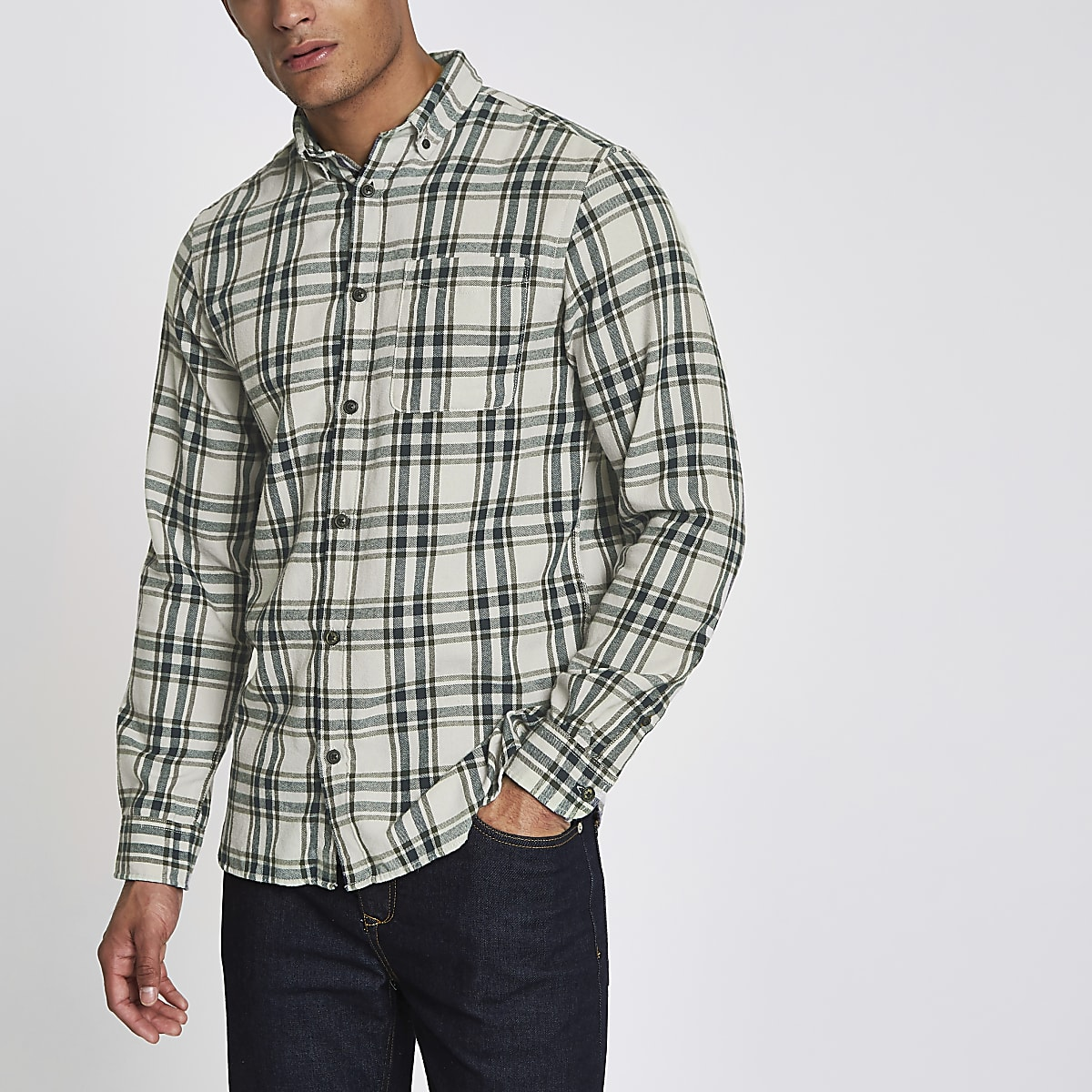 Jack & Jones Original green check shirt