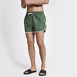 Football Bolt green runner swim trunks