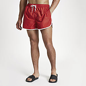 Football Bolt red runner swim trunks