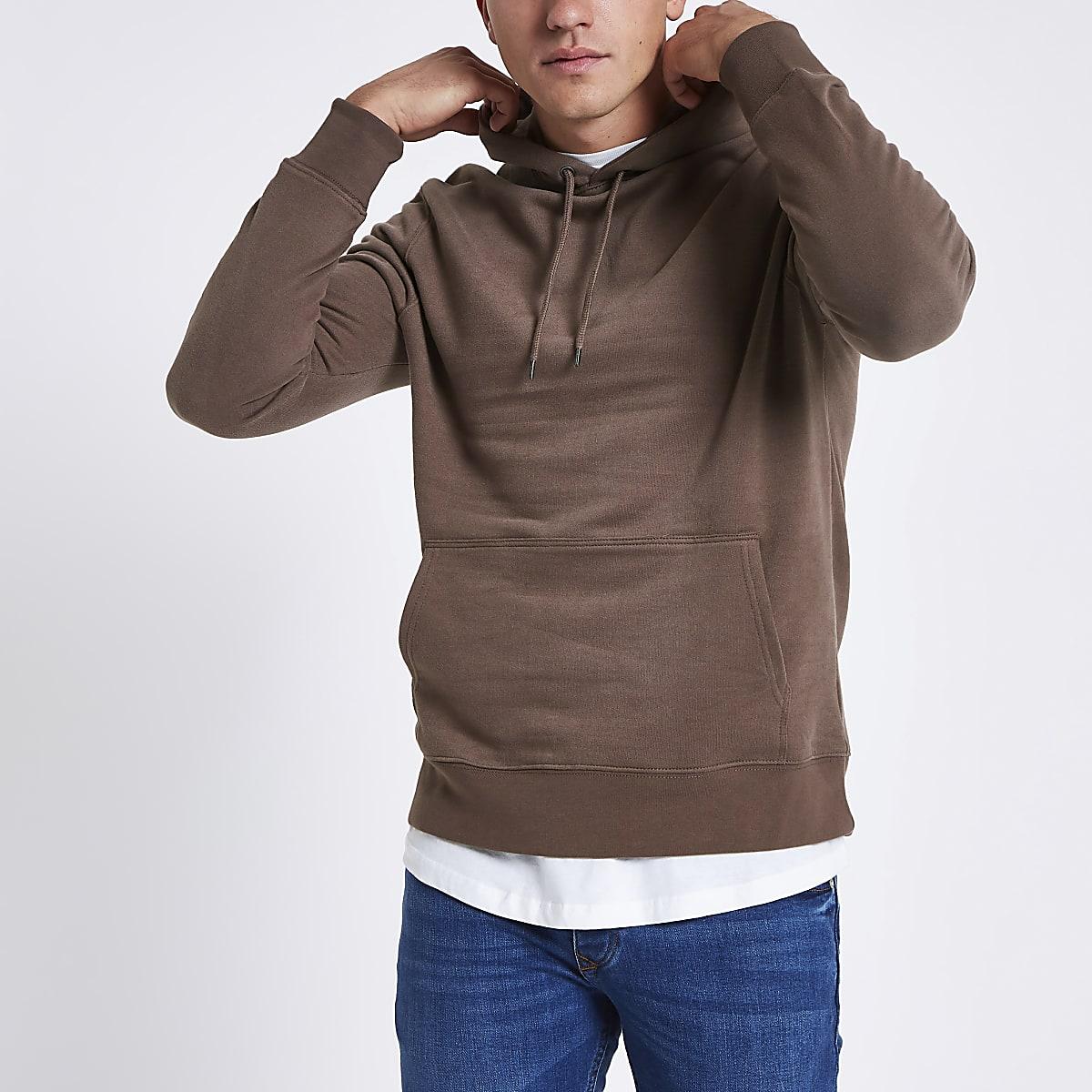 Brown long sleeve hoodie