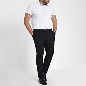 Big & Tall – Schwarze, elegante Skinny Hose