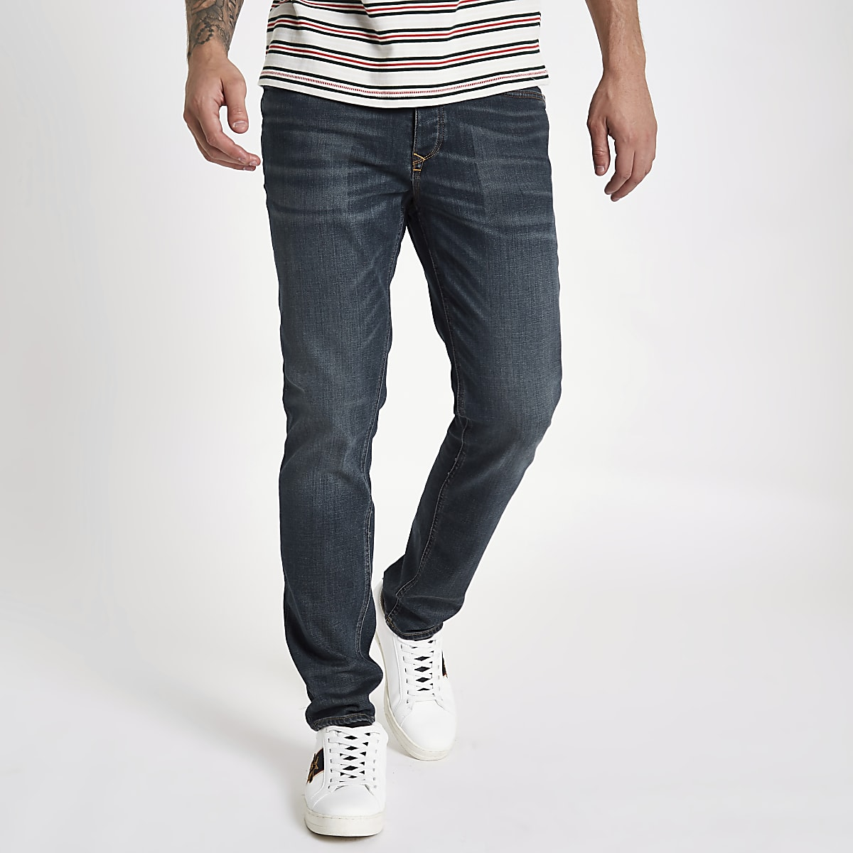 Dark blue slim fit Dylan jeans