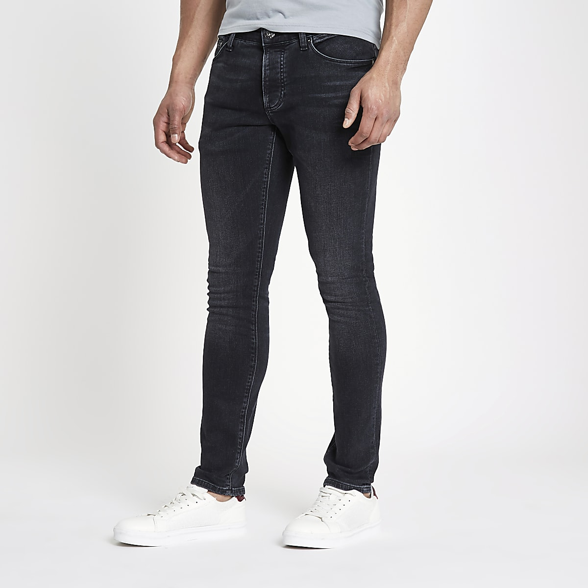 Dark blue slim fit denim jeans