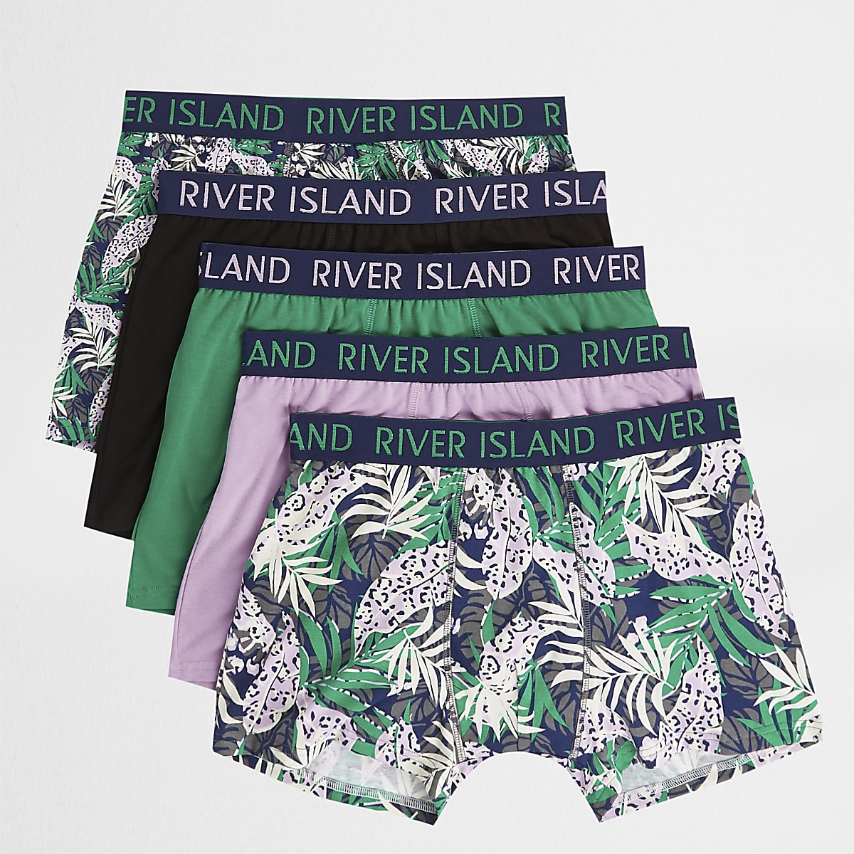 Pink tropical print trunks multipack