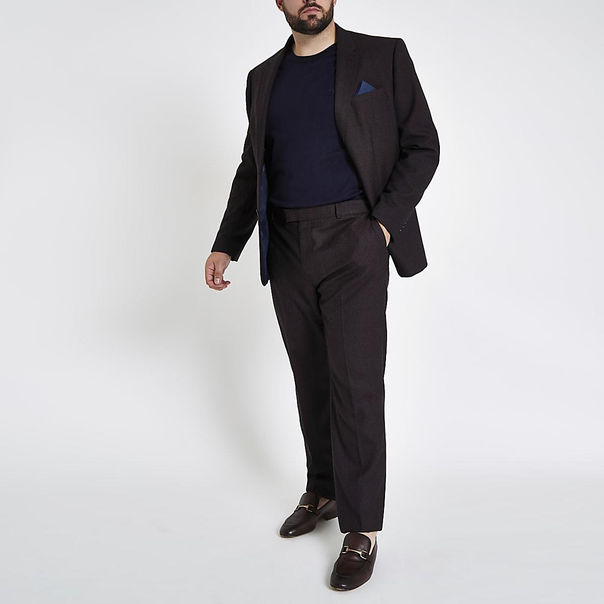 Big and Tall purple suit slim fit jacket