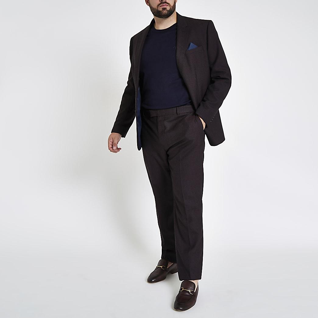Big and Tall – Veste de costume slim violette