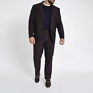 Big and Tall purple slim fit suit trousers