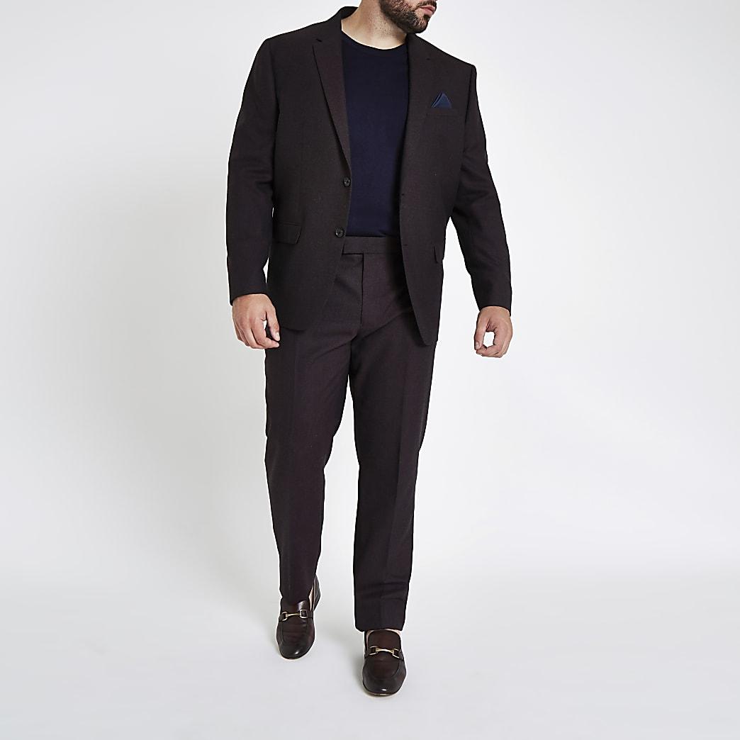 Big and Tall – Pantalon de costume slim violet