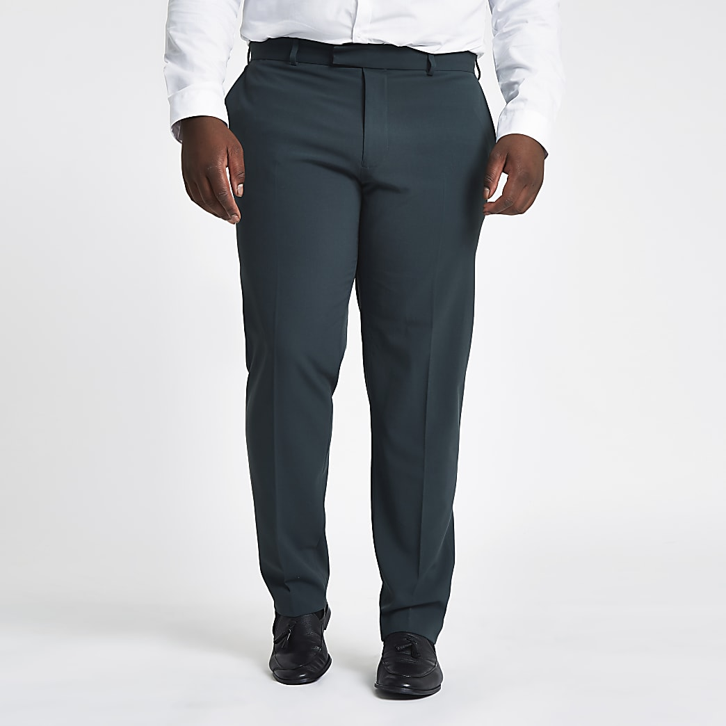 Big and Tall – Pantalon de costume skinny vert