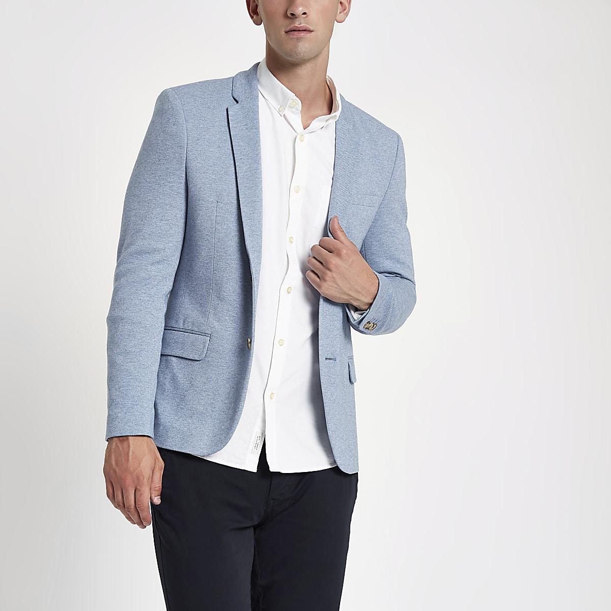Light blue muscle fit blazer