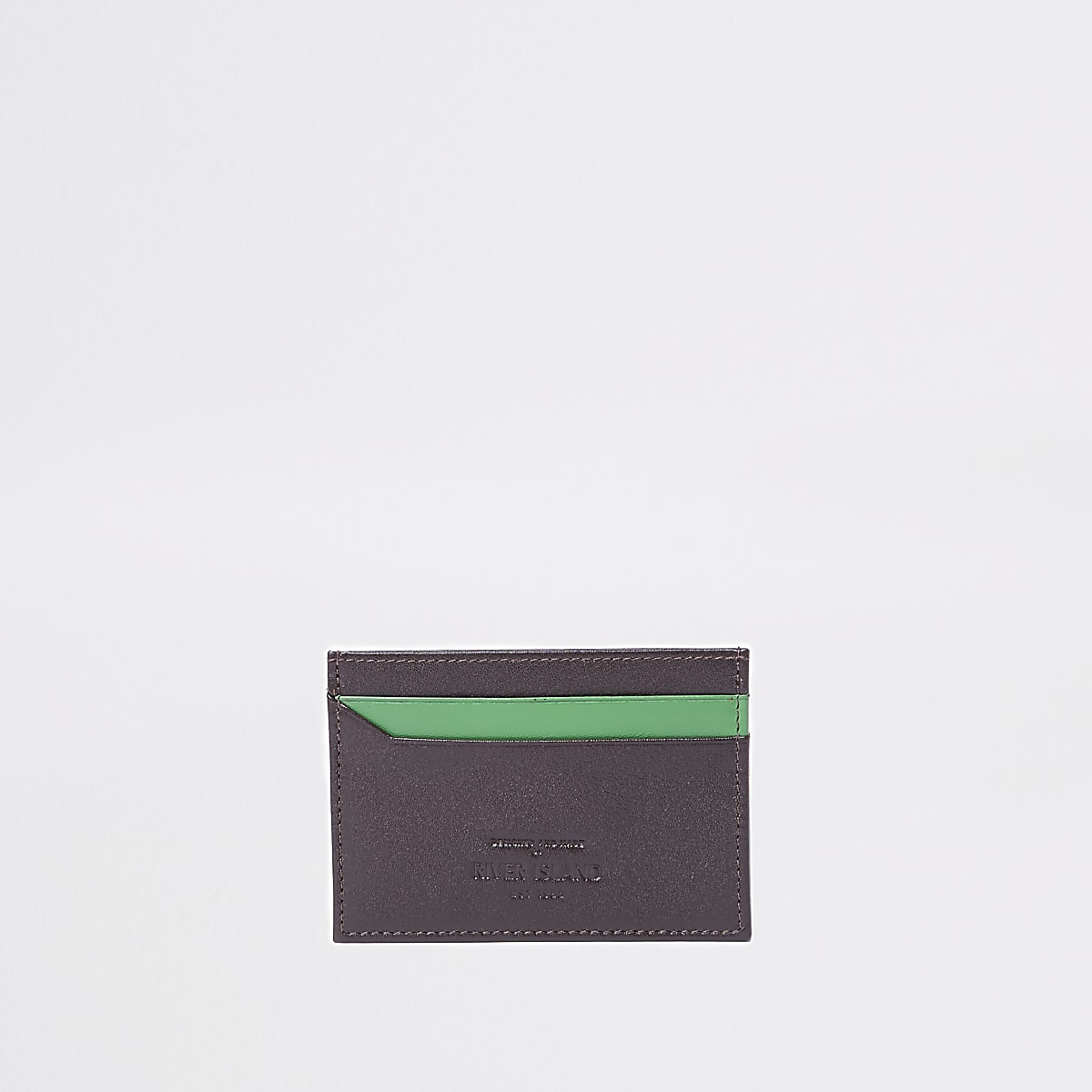 Brown and green card holder