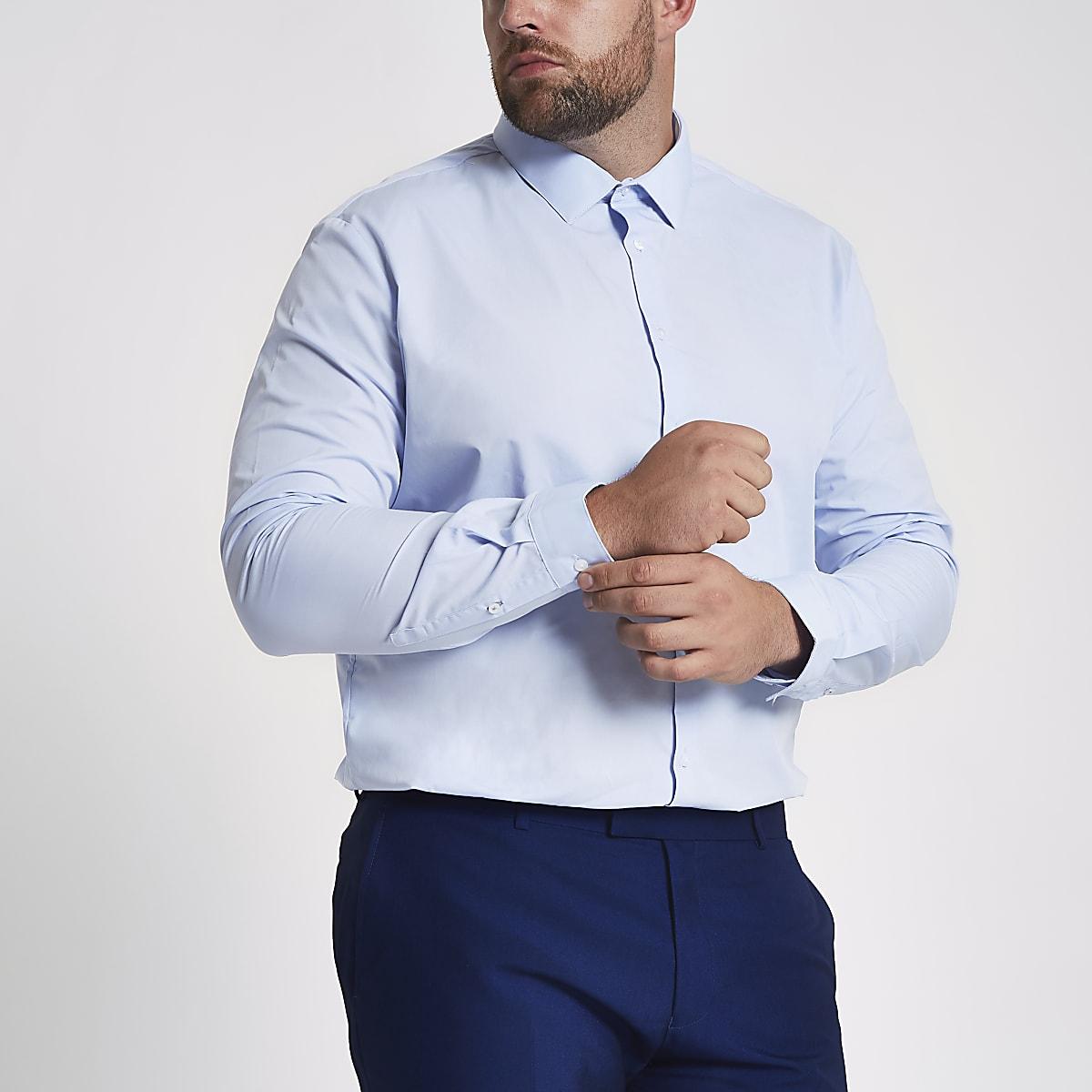 Big & Tall – Hellblaues Hemd