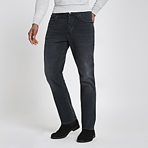 Dunkelblaue Straight Leg Jeans