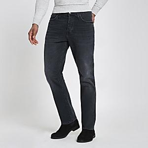 Donkerblauwe standaard jeans met rechte pijpen