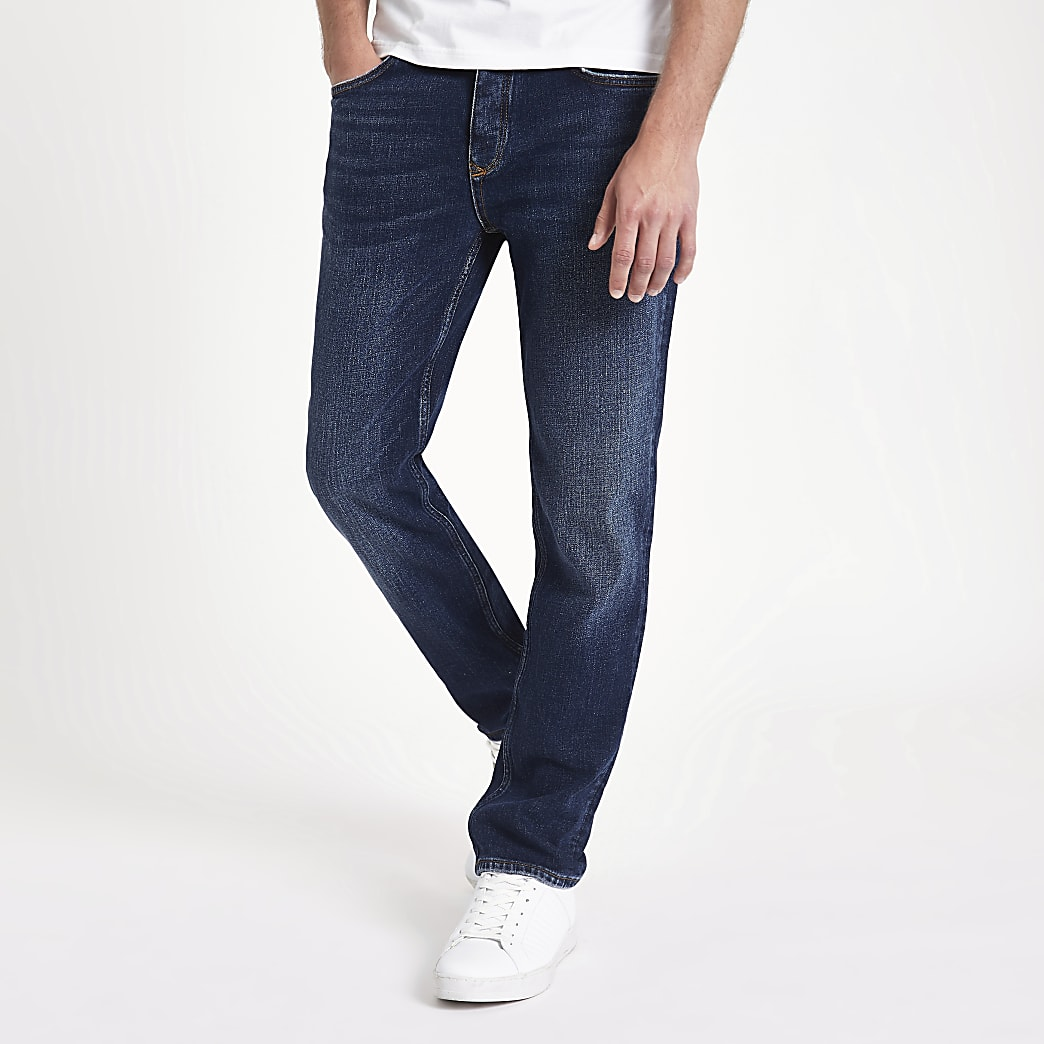 Dean - Blauwe standaard jeans
