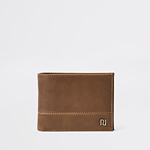 Brown perforated wallet
