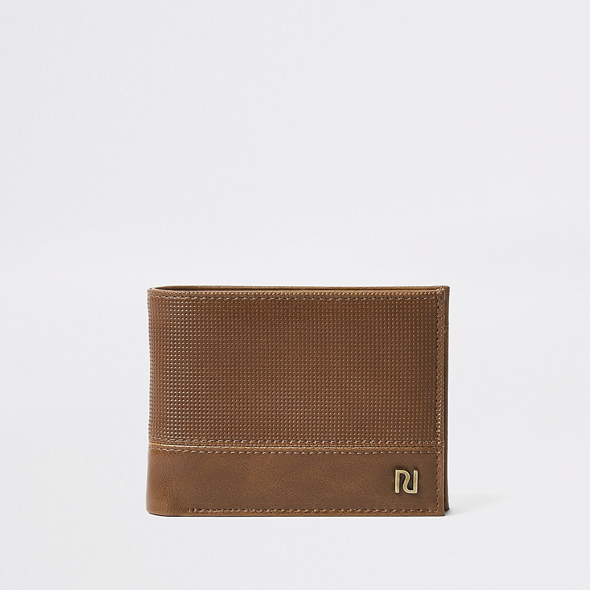 Brown perforated wallet