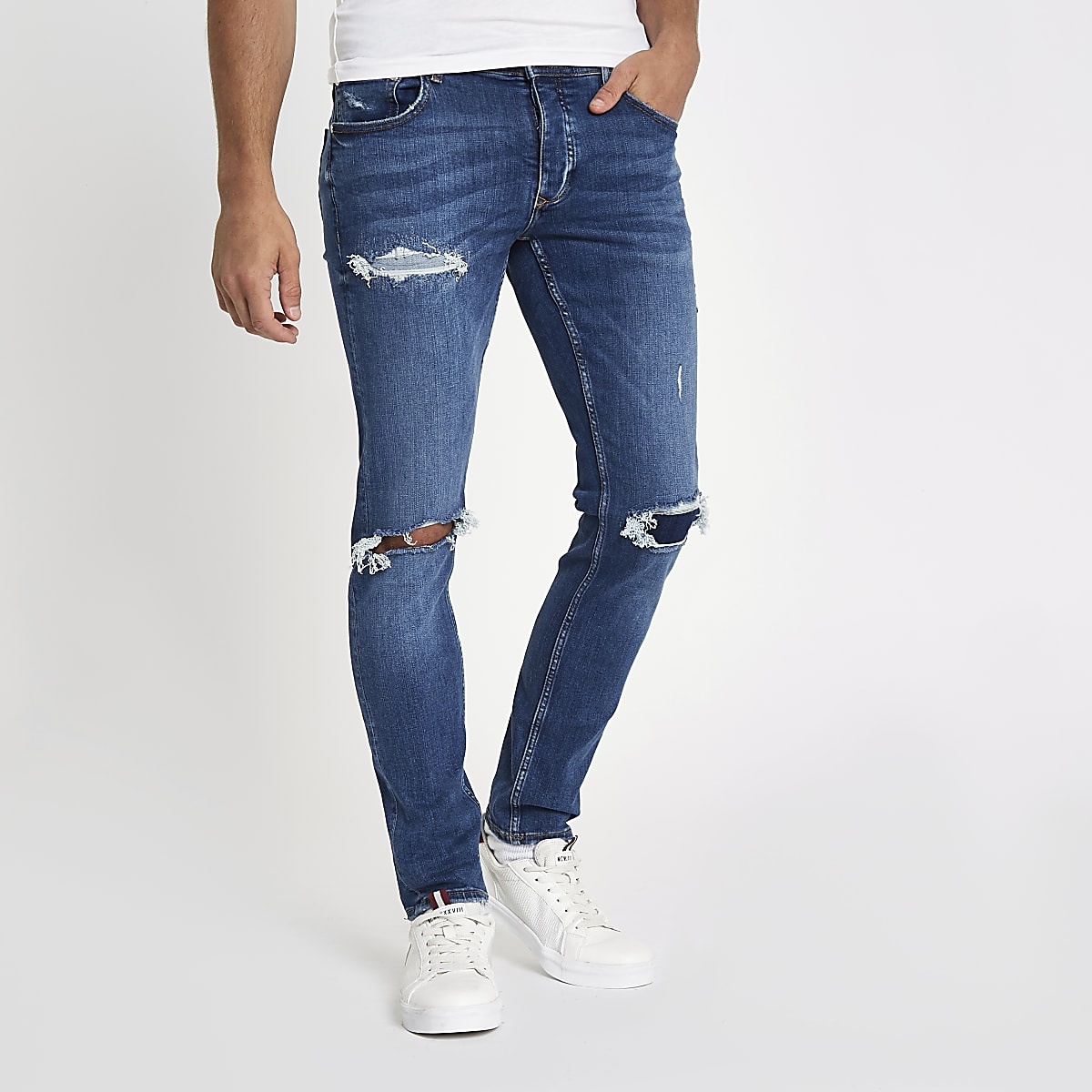 c9cdedf4d5 Blue ripped Sid skinny jeans - Skinny Jeans - Jeans - men