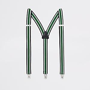 Green stripe belt braces