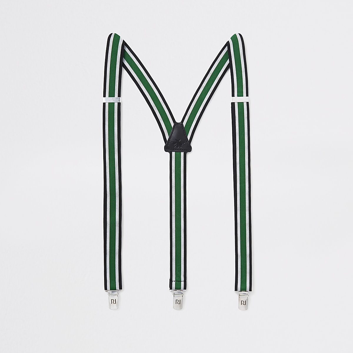 Green stripe belt braces