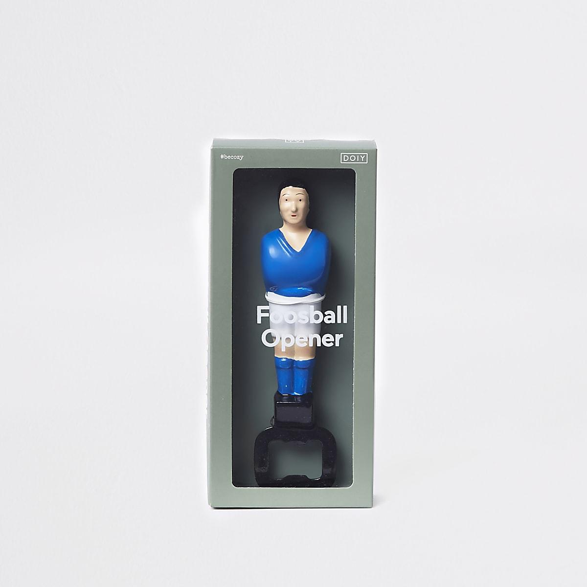 Blue foosball football bottle opener