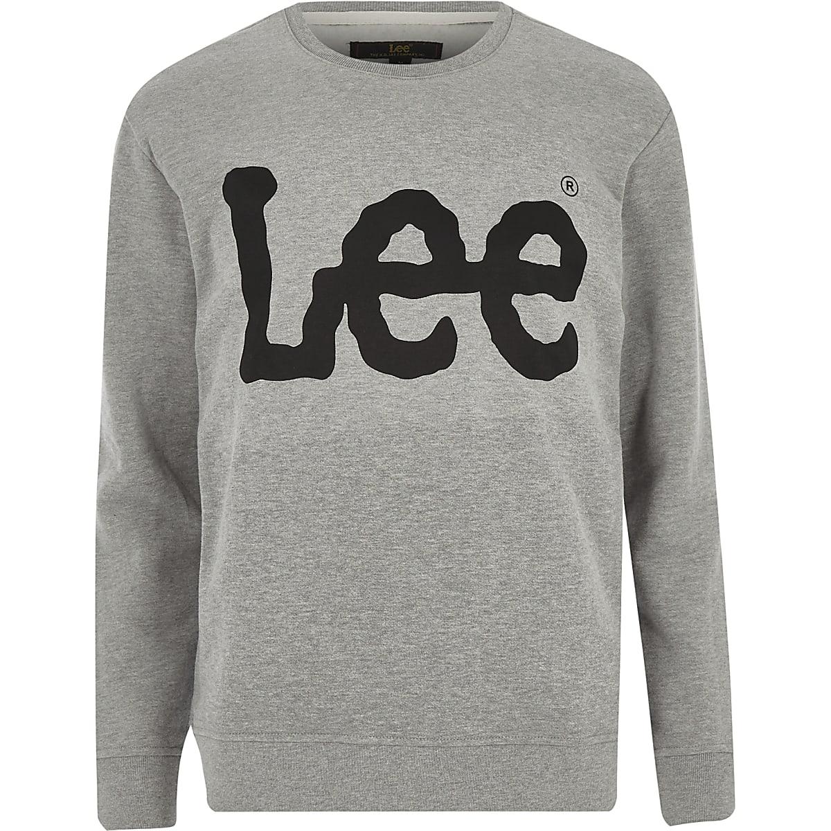 Lee grey logo print sweatshirt