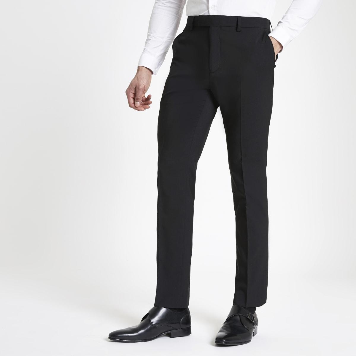 Pantalon de costume noir à coupe slim
