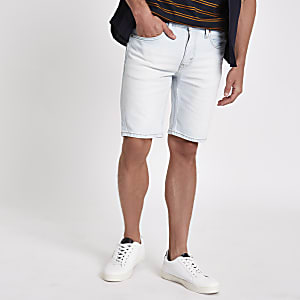Levi's - Short 511 slim en denim bleu clair