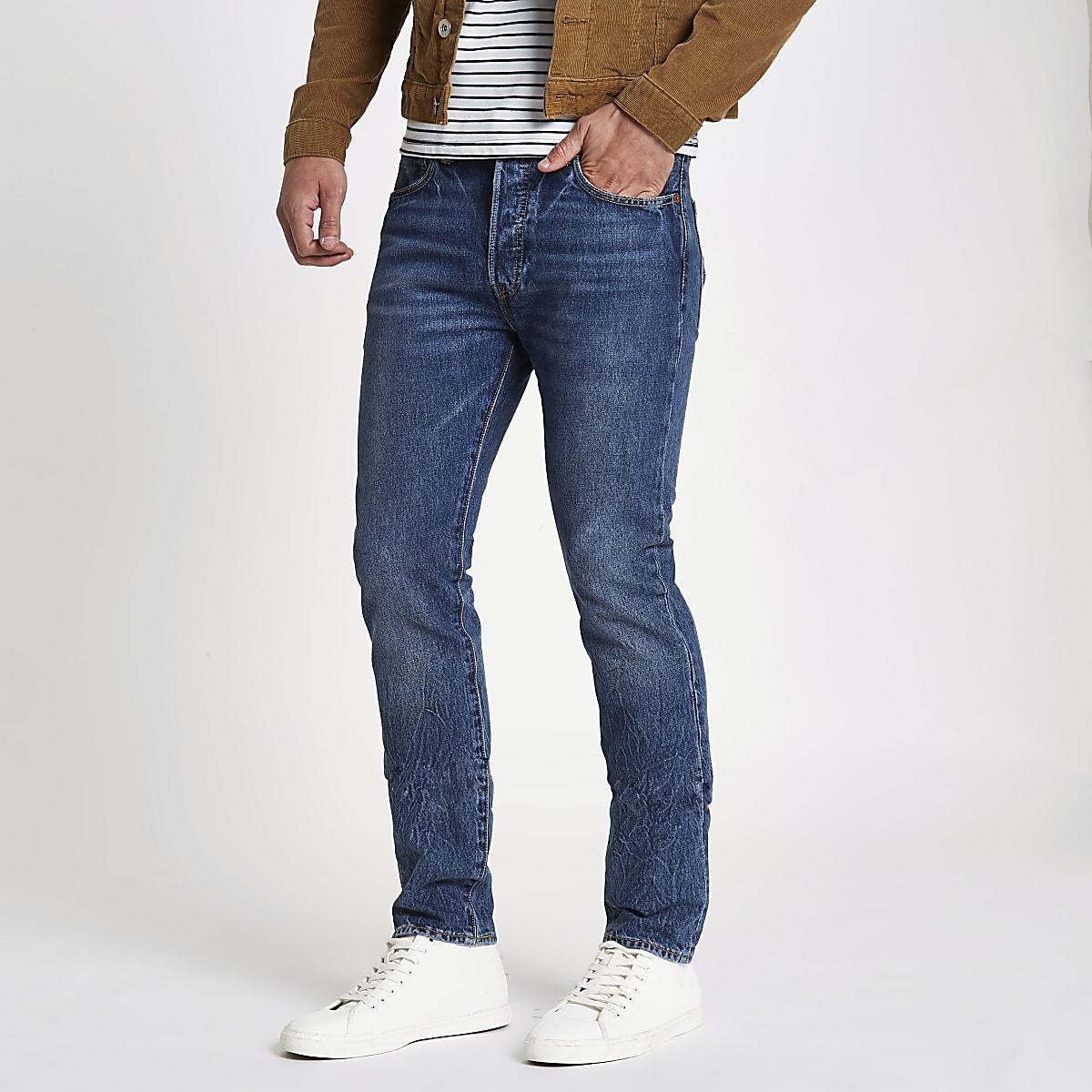 d3e44f4a673 Levi's blue 501 skinny jeans
