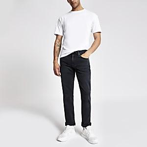 Levi's – Schwarze, gewaschene Slim Fit Jeans – 511