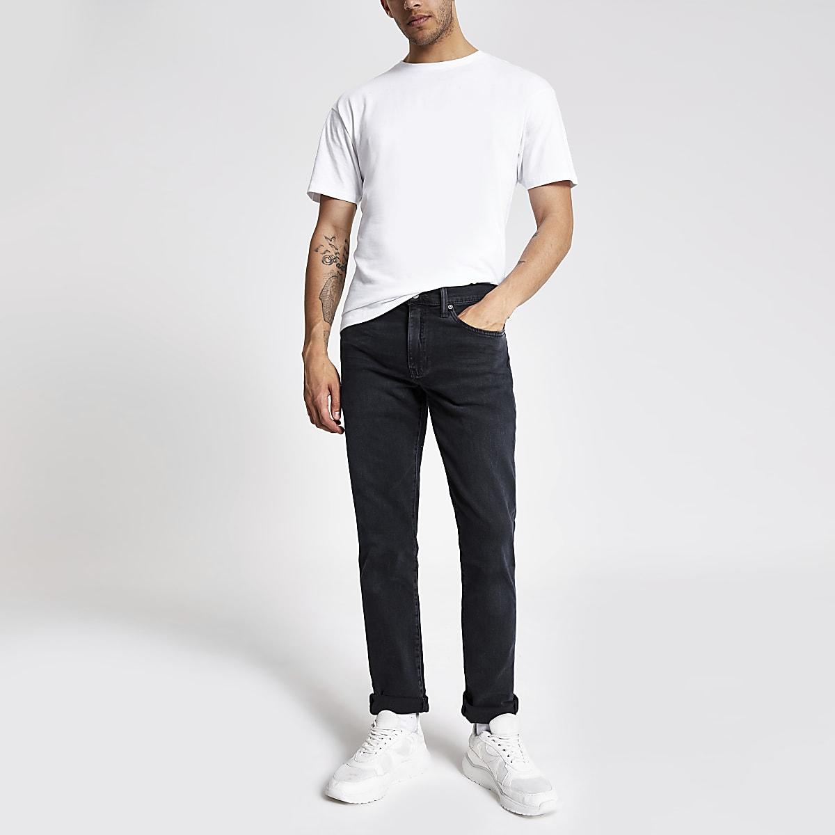 Levi's 511 - Zwarte washed slim-fit jeans