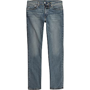 Levi's blue 511 distressed slim fit jeans