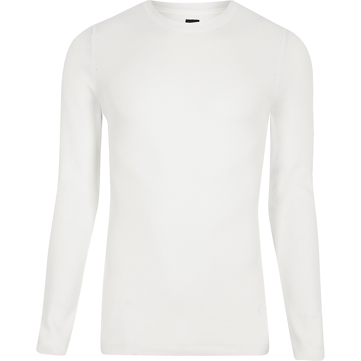 RI Studio – Weißer Muscle Fit Pullover