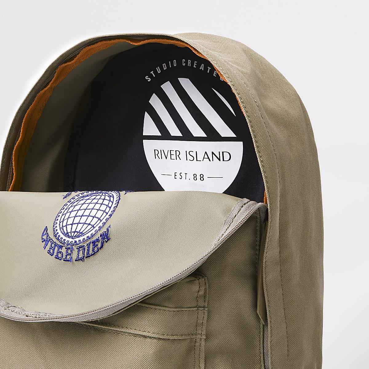 40a1a4c3f562e Stone  Carpe Diem  front pocket rucksack - Backpacks   Rucksacks ...