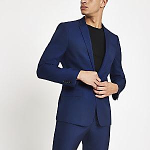 Veste de costume skinny bleu vif